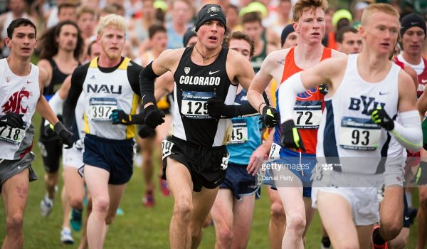 TERRE HAUTE, IN - NOVEMBER 19: Joe Klecker #129 of the University of Colorado races during the men's NCAA cross country championships at the LaVern Gibson Championship Cross Country Course on November 19, 2016, in Terre Haute, Indiana. (Photo by Daniel Petty/The Denver Post via Getty Images)